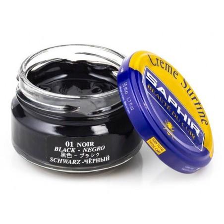 Saphir crème surfine - 01 Noir 50ml jar