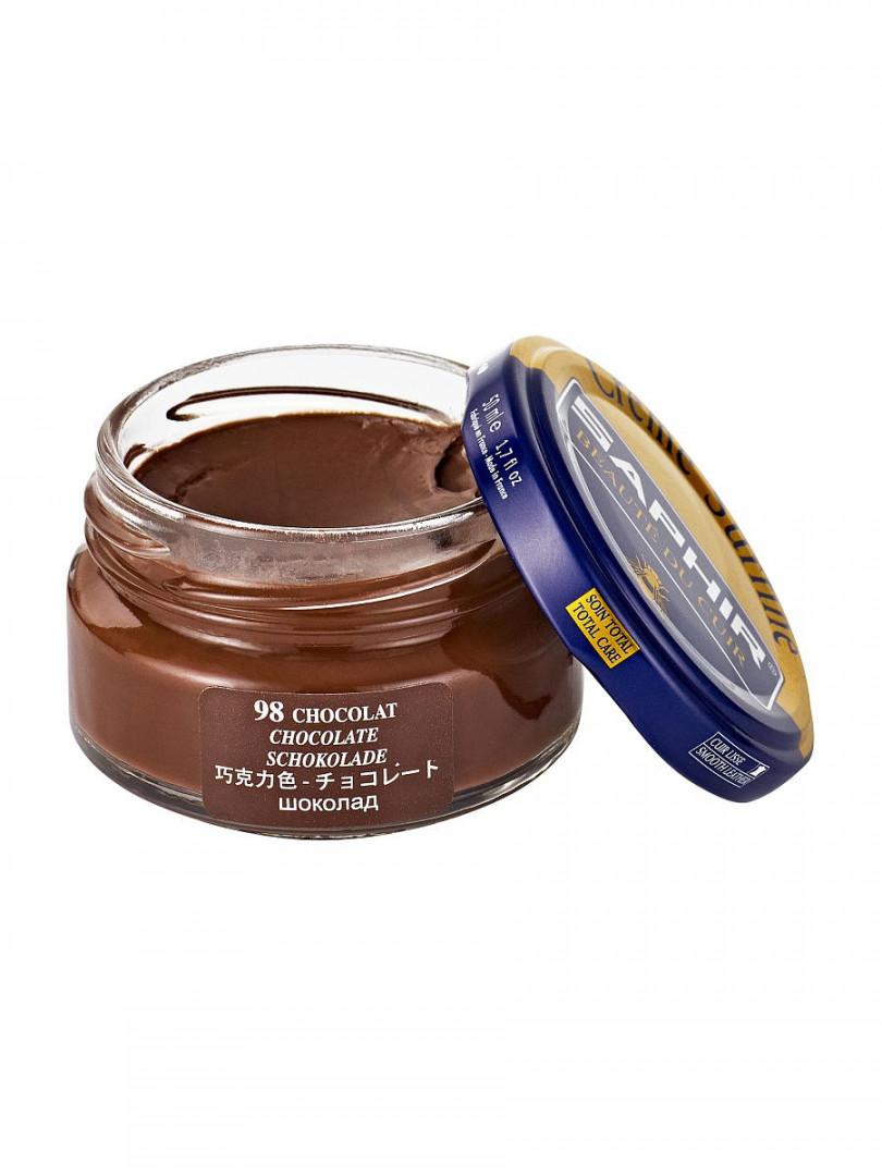 Saphir crème surfine - 98 Chocolat 50ml jar