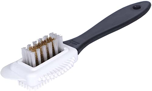 Double sided brush -  Black or red or blue handle