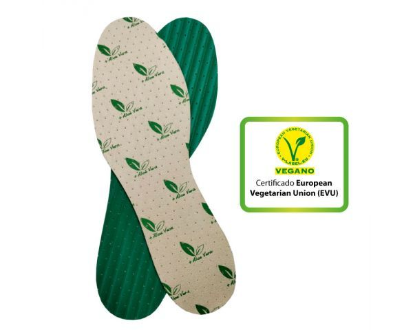 Aloe vera insoles (Size 39-40 / 1 pair) - White with green latex