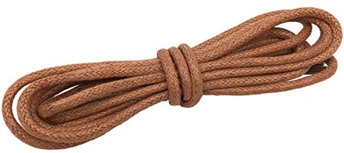 Waxed laces (75cm (1 pair) for 4-5 holes) - Yellow brown