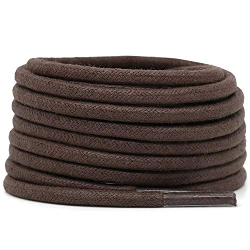Cotton round laces (90cm (1 pair) for 5-6 holes) - Dark brown