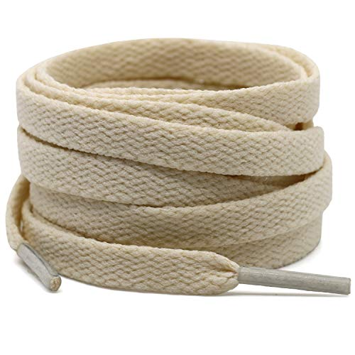 Cotton flat laces (90cm (1 pair) for 5-6 holes) - Beige