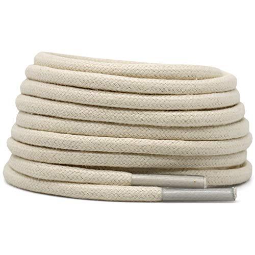 Cotton round laces (120cm (1 pair) for 6-7 holes) - Beige