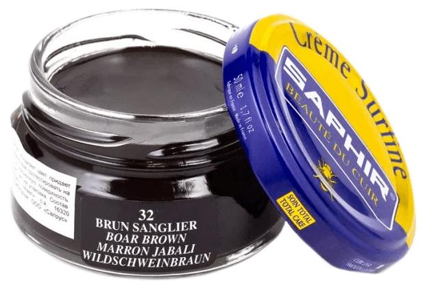 Saphir crème surfine - 32 Brun Sanglier 50ml jar