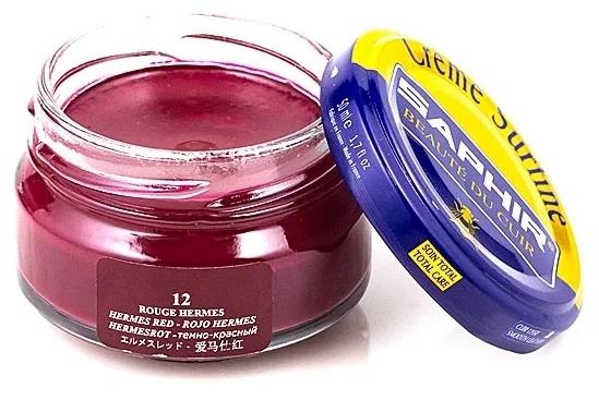 Saphir crème surfine - 12 Rouge Hermes 50ml jar
