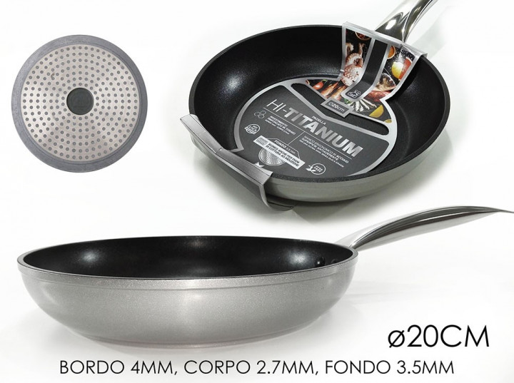 FRYING PAN TITANIUM INDUCTION 20CM