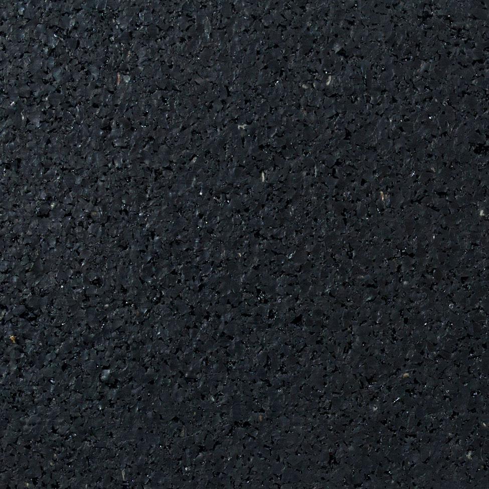 Flooring Labs Rubber Floor - Hard (Black - 6mm)