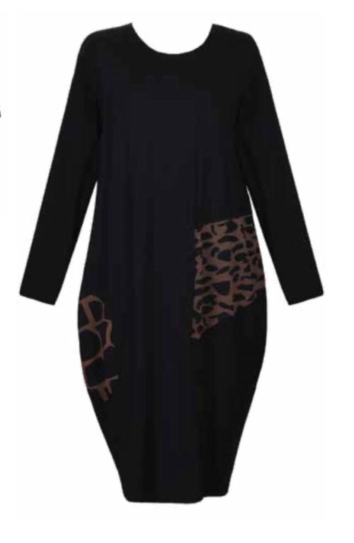 Alembika Jersey Day Dress Black - 2 (Medium)