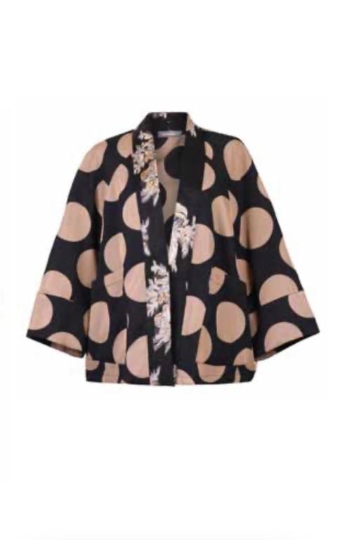 Alembika Evening Jacket Black/Beige - 2 (Medium)