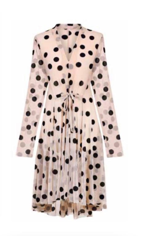 Alembika Pois Dress Beige/Black - 3 (Large)