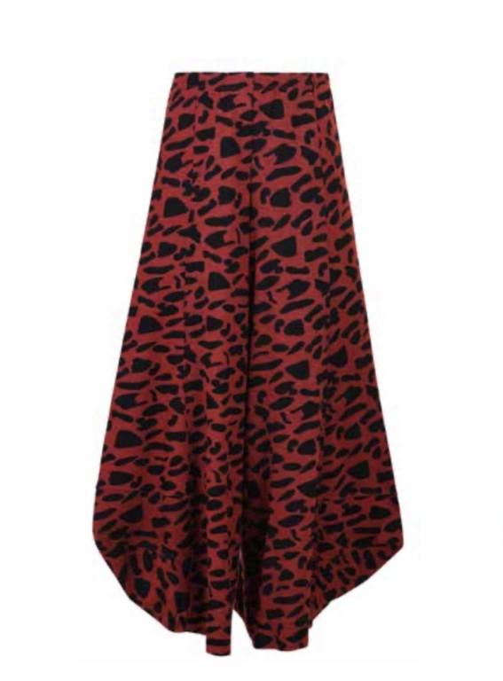 Alembika Print Trousers Black/Rusty - 2 (Medium)