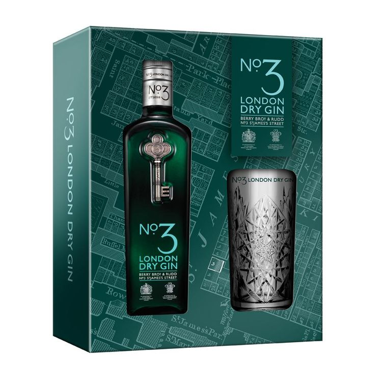 NO3 LONDON DRY GIN GIFT SET 70CL