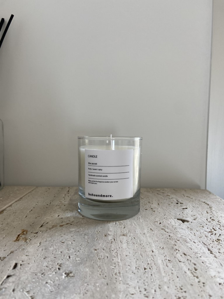 clear glass candle transparent - large (9cm H X 8cm D)