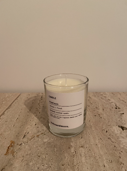 clear glass candle transparent - small (8cm H X 6.5 cm D)