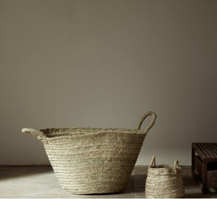 natural storage basket in beige-brown - large (55cm x 35cm)