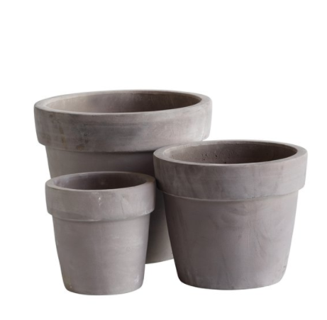 terracotta pot in brown - medium (27cm H X 31cm D)
