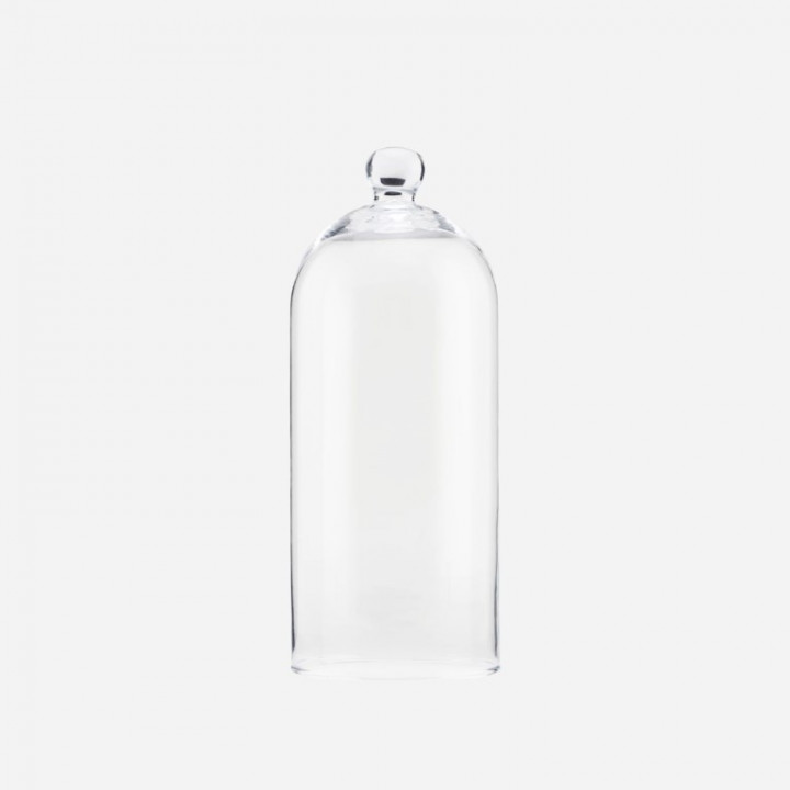 Glass bell clear - large (18cm D X 32,5cm H)