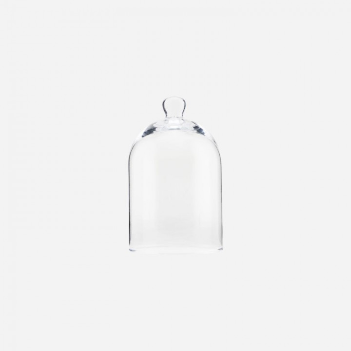 Glass bell clear - small (12cm D X 19,8cm H)