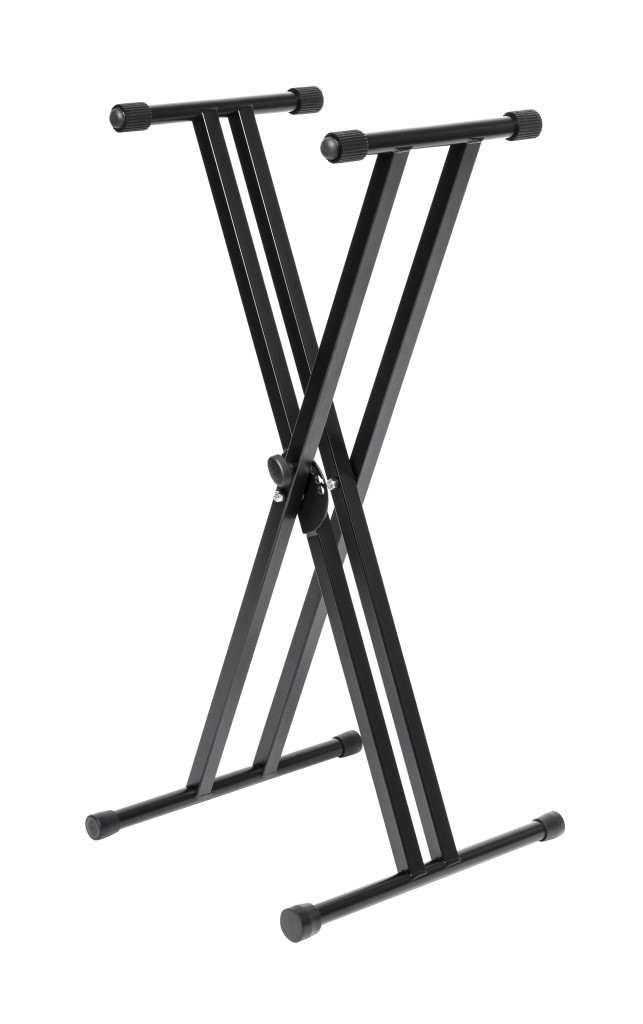 Stagg double-braced X-style keyboard stand, foldable