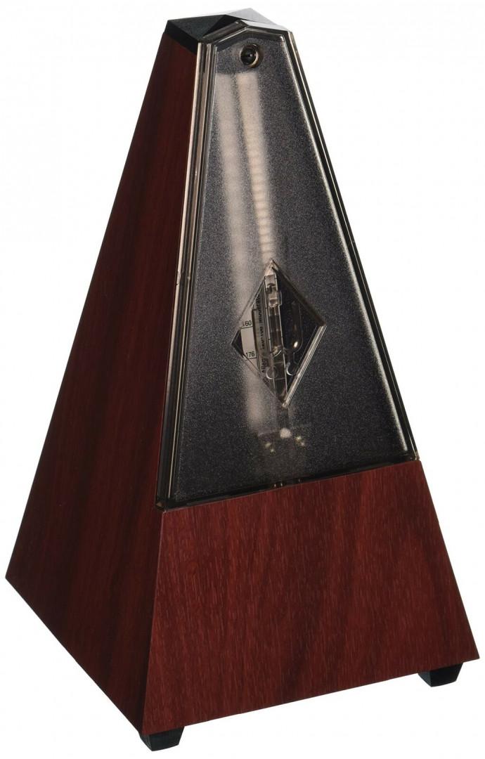 WITTNER 812K Pyramid Shape Metronome with bell - Mahogany Grain