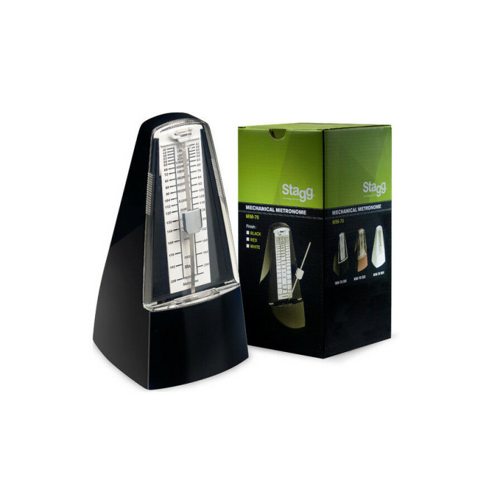 Stagg MM-70 Mechanical Metronome with Bell - Black