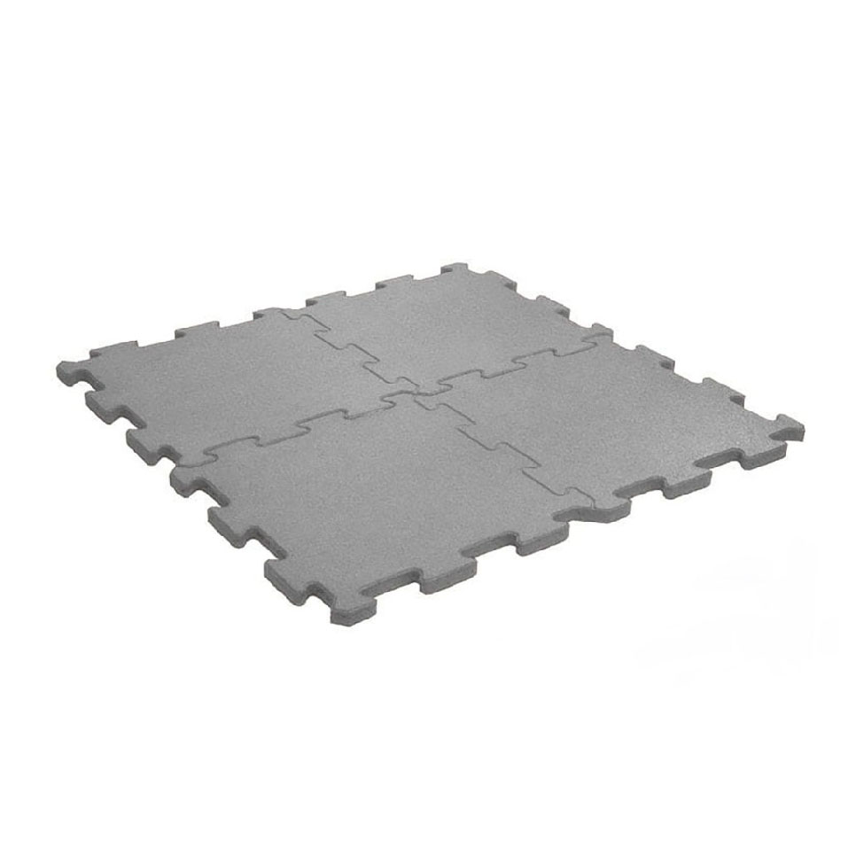 Gym Flooring Tiles (Gray - 15mm)