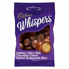 CADBURY WHISPERS MILK CHOC. WITH MALTED HONEYCOMB 65G