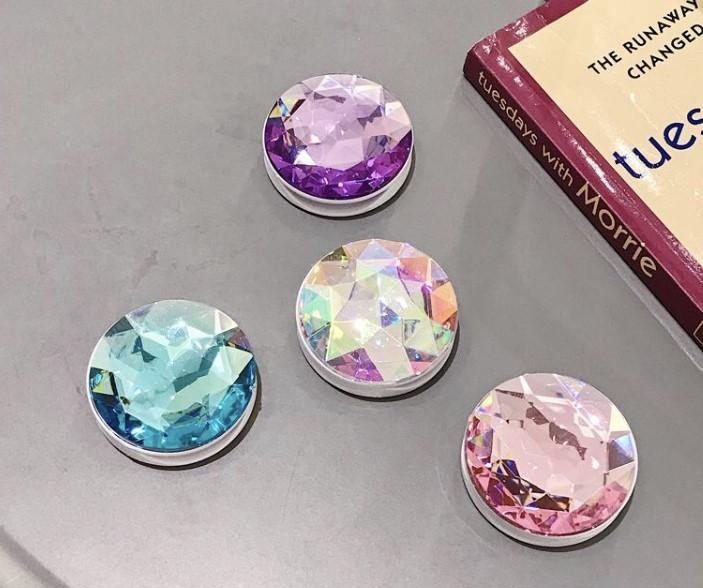 crystal bracket - purple