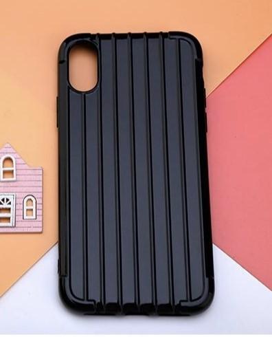 RUBBER GEL iPhone XR - black