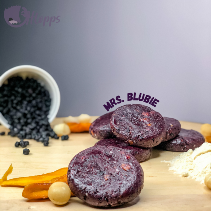 Mrs Blubie Healthy Bite with protein powder - purple 50g