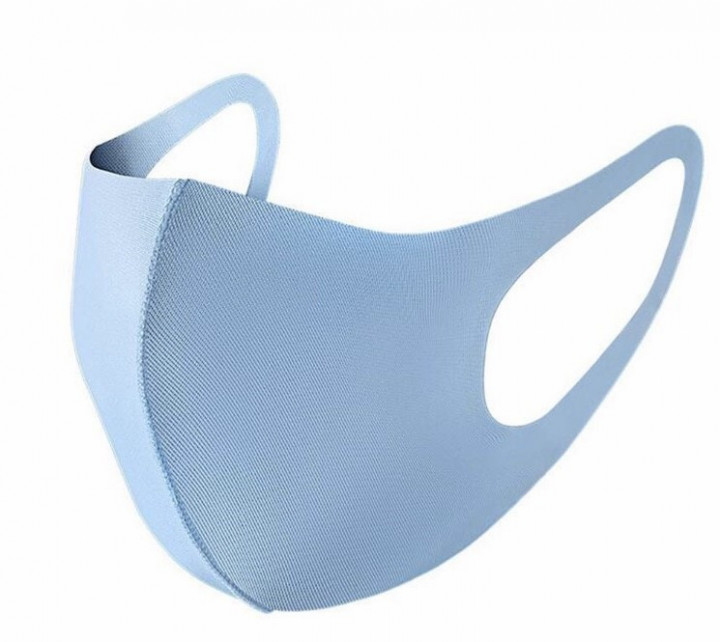 ELASTIC FACE MASK FOR ADULTS - light blue