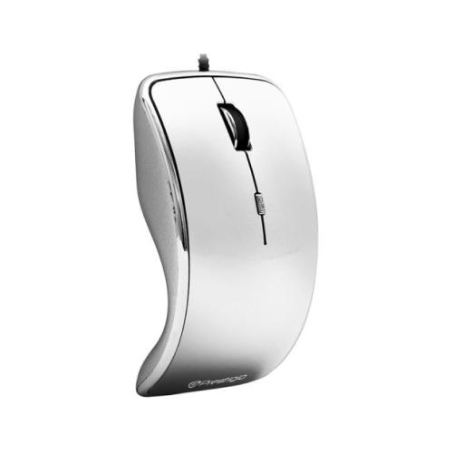Prestigio PMS005 Wired Optical Mouse, Silver