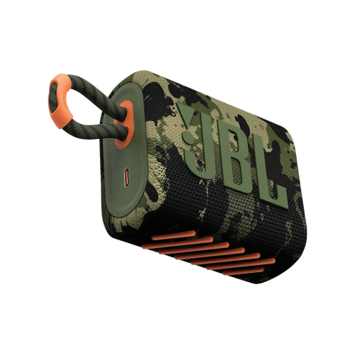 JBL GO 3 Wireless Bluetooth Waterproof Speaker, Squad