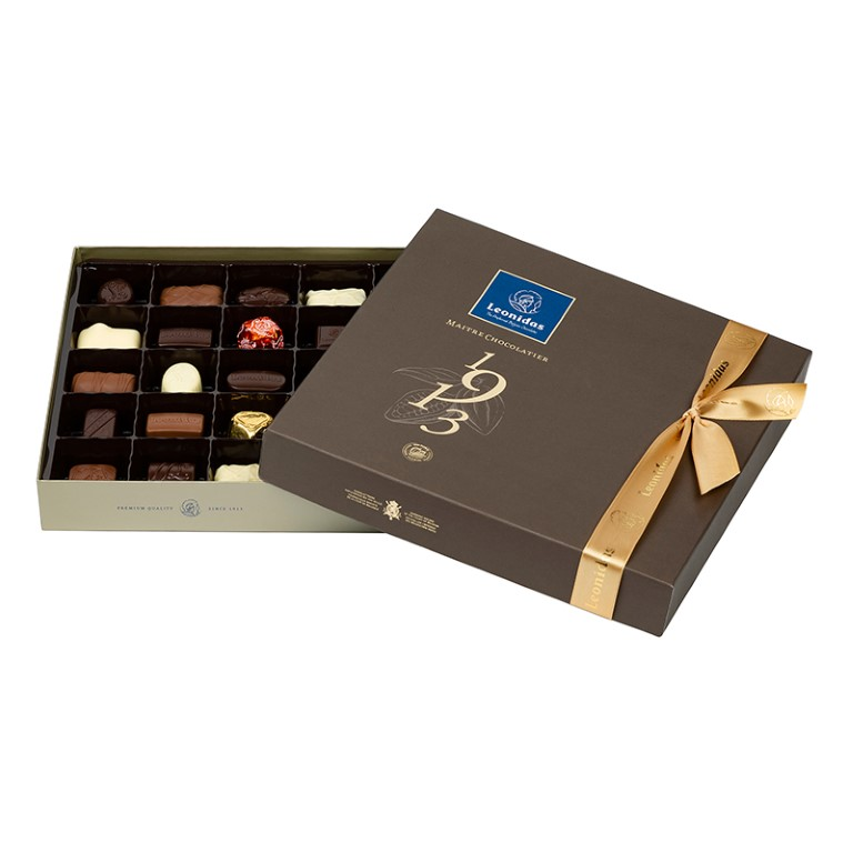 Brown Square Box with Pralines