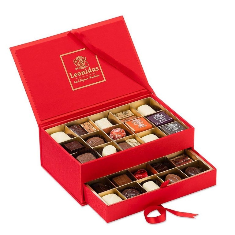 Red Jewel Box with Pralines