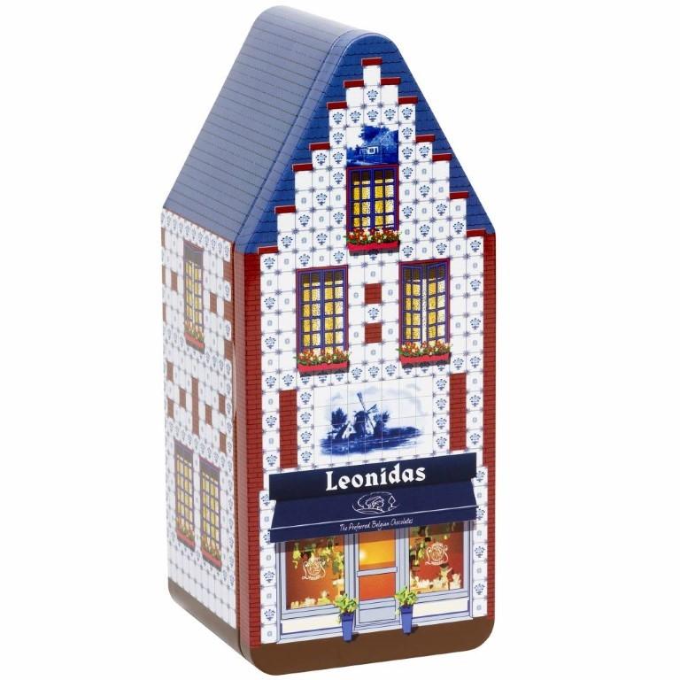 House Metal Box 3 Windows - 375gr Pralines