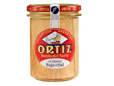 Concervas Ortiz White Tuna In Spring Water - No Salt Added Glass Jar 220g