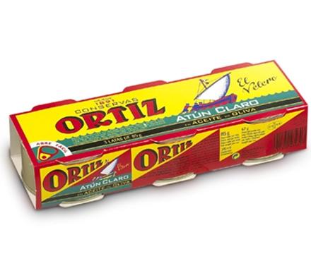 Concervas Ortiz Yellowfin Tuna In Olive Oil Pack 3x92g