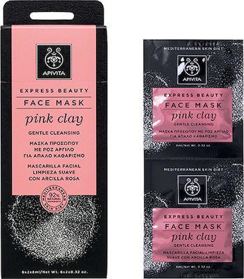 Apivita Express Beauty Pink Clay Gentle Cleanser 2x8ml