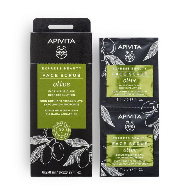 Apivita Express Beauty Olive Deep Scrub 2x8ml