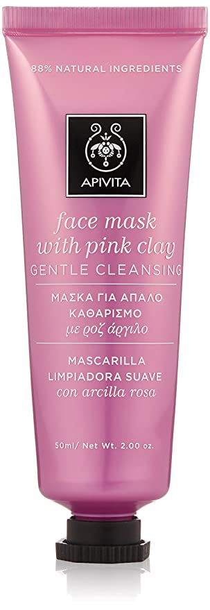 Apivita Face Mask Pink Clay Mask 50ml