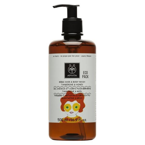 Apivita Kids Hair Body Wash Mandarin and Honey 500ml