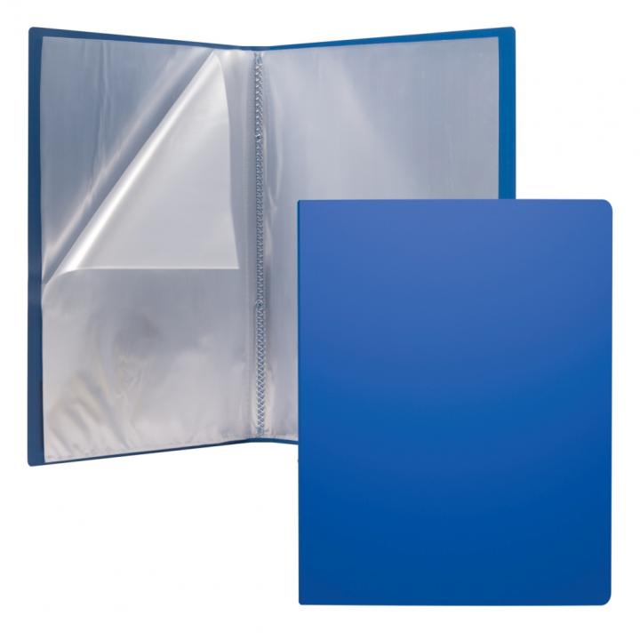 ERICHKRAUSE DISPLAY BOOK + SPINE POCKET CLASSIC 20 POCKETS A4 BLUE 46072