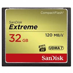 SANDISK Extreme CF 120MB/s, 85MB/s write, UDMA7, 32GB Lifetime warranty