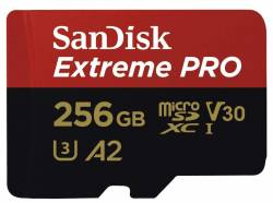 SANDISK Extreme Pro microSDXC 256GB + SD Adapter+Rescue Pro Deluxe 170MB/s A2 C