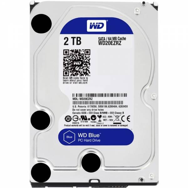 """WESTERN DIGITAL HDD 2TB 3.5"""" SATA CACHE BLUE"""
