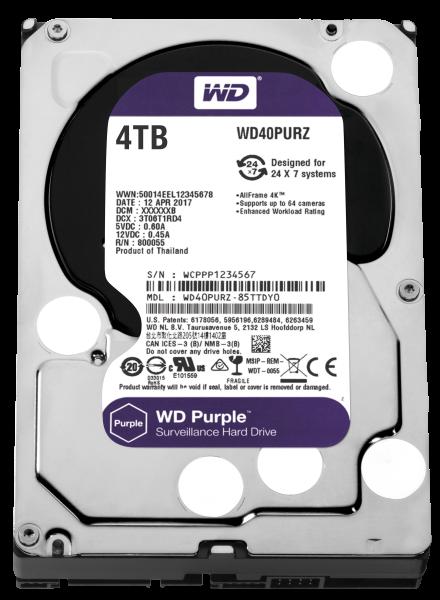 WESTERN DIGITAL HDD 4TB SATA III PURPLE