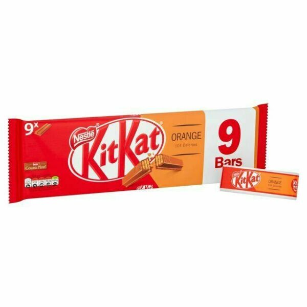 Nestle Kitkat 2f Orange 9pk 186g
