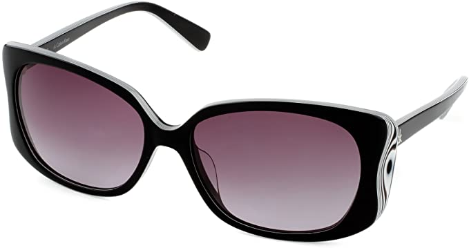 Calvin Klein CK 4091S 313 Black and White Designer Sunglasses for Women